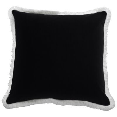 St. Kilda Velvet Scatter Cushion Cover, Black