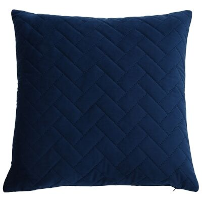 Macquarie Quilted Velvet Scatter Cushion Cover, Navy