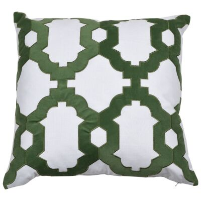 Brighton Velvet & Cotton Scatter Cushion Cover, Olive