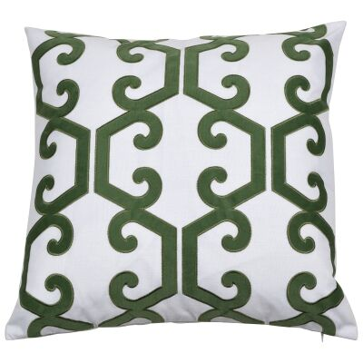 Kiama Velvet & Cotton Scatter Cushion Cover, Olive