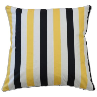 Amalfi Outdoor Scatter Cushion Cover, Yellow / Black