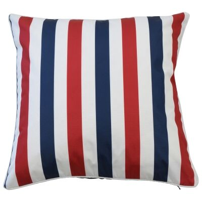 Amalfi Outdoor Scatter Cushion Cover, Navy / Red