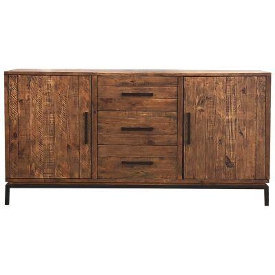 Ermou Pine Timber 2 Door 3 Drawer Buffet Table, 160cm