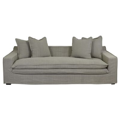 Hester Fabric Slipcover Sofa, 3 Seater, Taupe