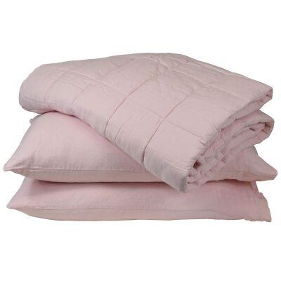 Taj French Linen Comforter, Pink