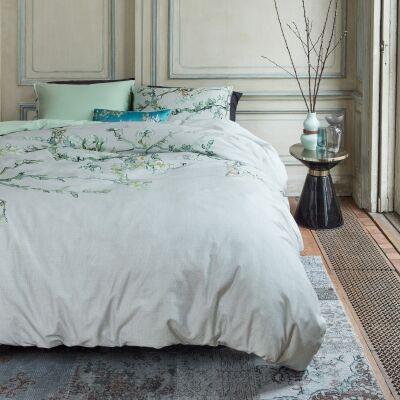 Beddinghouse Van Gogh Almond Blossom Cotton Sateen Quilt Cover Set, Queen, Grey