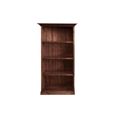 LA New Zealand Pine Timber Bookcase, 90cm, Walnut
