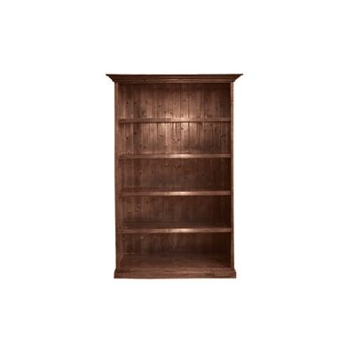 LA New Zealand Pine Timber Bookcase, 120cm, Walnut