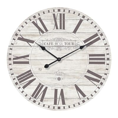 Cafe De La Tour Round Wall Clock, 70cm
