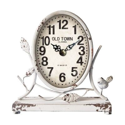 Albin Antique Metal Country Table Clock