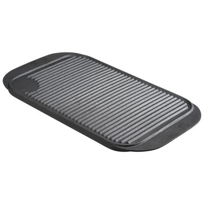Pyrolux Pyrocast Cast Iron Rectangular Grill Tray, 48x26cm