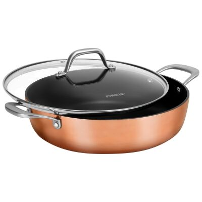 Pyrolux Coppertone Non-stick Chef Pan with Lid, 28cm