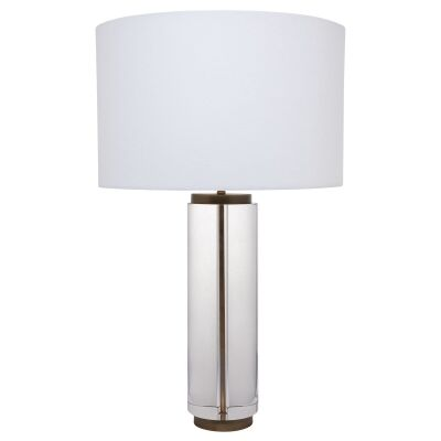 Forrester Crystal Glass Base Table Lamp