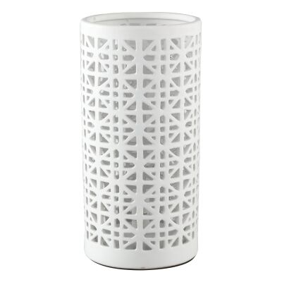 Oprah Ceramic Table Lamp, White