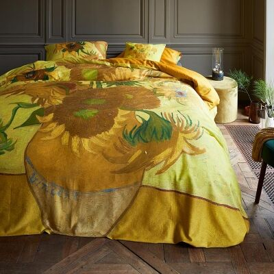 Beddinghouse Van Gogh Sunflowers Cotton Sateen Quilt Cover Set, Queen