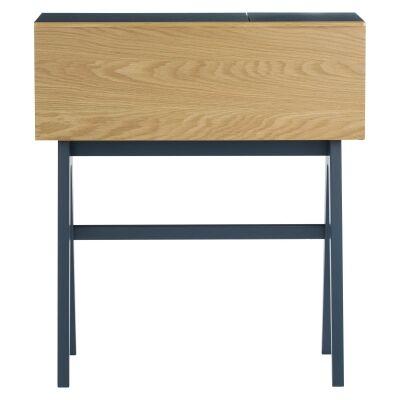 Valen Commercial Grade Drop Front Study Desk, 96cm, Space Blue / Oak