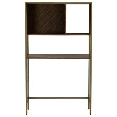 Willingham Wood & Metal Study Desk with Shelf, 90cm