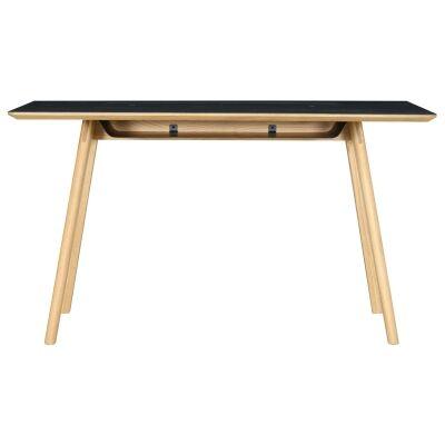 Tyrus Oak Timber Desk, 134cm