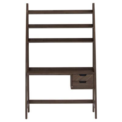 Torrell Acacia Timber Study Desk with Shelf, 120cm