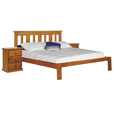 Gina New Zealand Pine Timber Bed, Double
