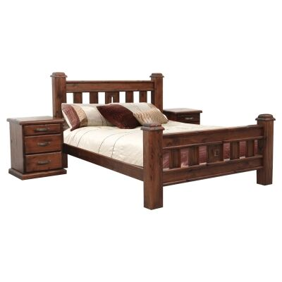 Spring New Zealand Pine Timber Federation Bed, Double
