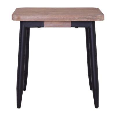 BinderCommercial Grade  Acacia Timber & Metal Side Table