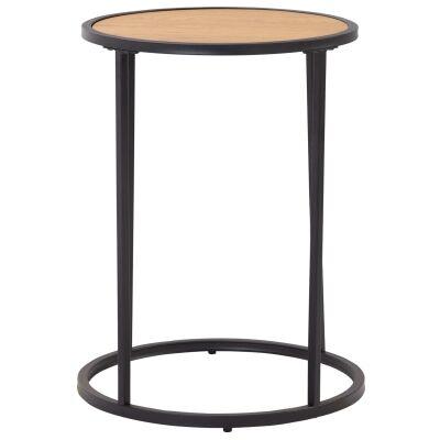 Bradford Metal Round Side Table, Slim