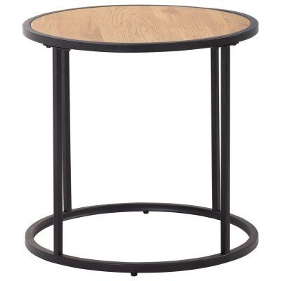 Bradford Metal Round Side Table, Wide