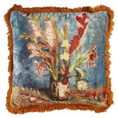 Beddinghouse Van Gogh Vase With Gladioli & Chinese Asters Velvet Scatter Cushion