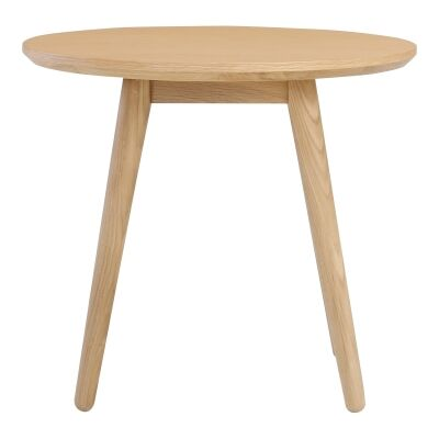 Oringo Commercial Grade Oak Timber Round Side Table