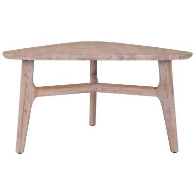 Corbin Acacia Timber Triangle Coffee Table, 85cm