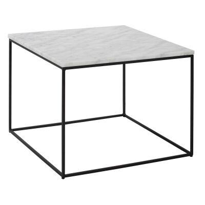 Lucio Marble Top Square Coffee Table, 60cm