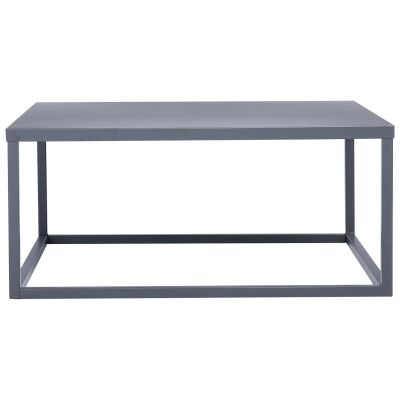 Daichi Steel Square Coffee Table, 90cm, Iridium
