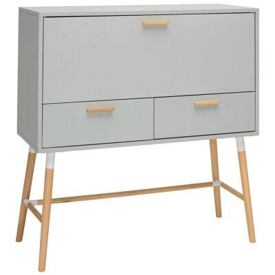 Arod Drop Front Desk, 106cm, Grey