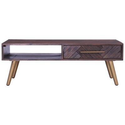 Sivan Acacia Timber Coffee Table, 120cm
