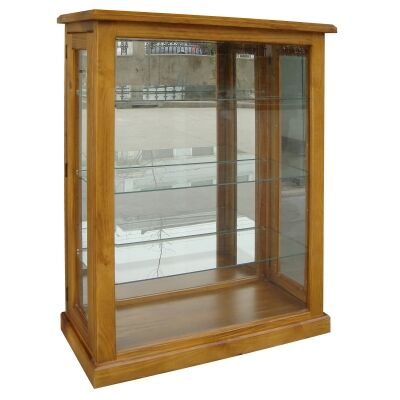 Sky New Zealand Pine Timber Display Cabinet