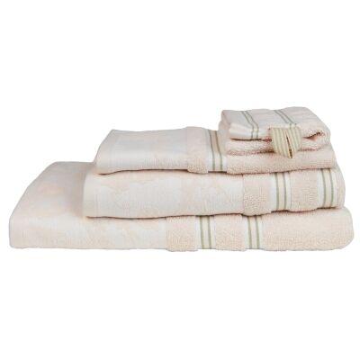 Beddinghouse Van Gogh Almond Blossom Silhouette Cotton Wash Mitt, Off White