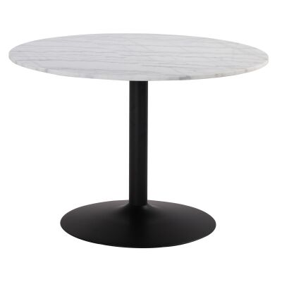 Marmor Marble Top Round Dining Table, 110cm