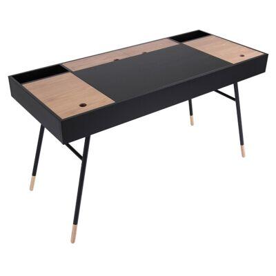 Morse Compartment Top Desk, Black