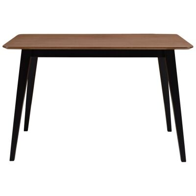 Platon Dining Table, 120cm, Walnut / Black