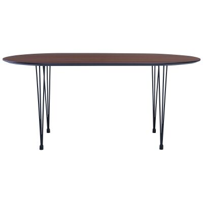 Omeo Dining Table, 170cm, Walnut / Black