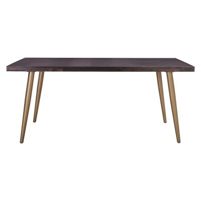 Sivan Acacia Timber Topped Metal Dining Table, 180cm