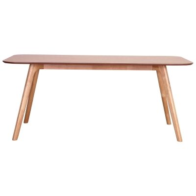 Roden Wooden Dining Table, 180cm, Natural