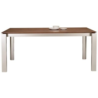 Elwood Dining Table, 180cm, Cocoa / Silver
