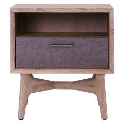 Corbin Commercial Grade Acacia Timber Bedside Table