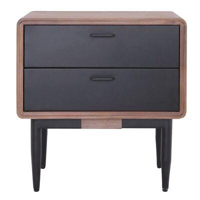Binder Acacia Timber & Metal Bedside Table