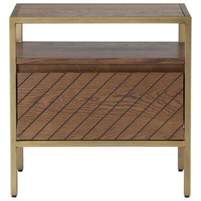 Willingham Wood & Metal Bedside Table