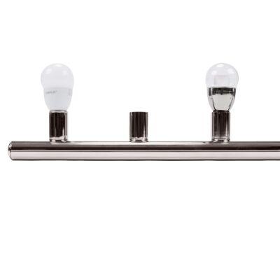 HL-804 Hollywood Vanity Light, 6 Light, Satin Chrome