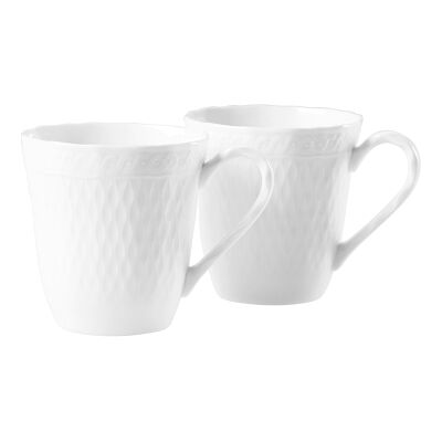 Noritake Cher Blanc 2 Piece Fine China Mug Set