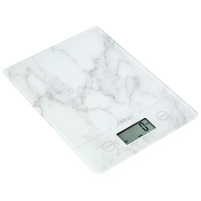 Avanti Compact Kitchen Scale, White Marble